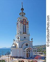 灯台, また, crimea, 教会, 聖者, nikolas