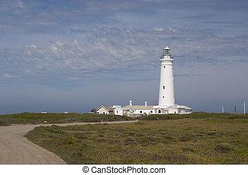 灯台, アフリカ, 湾, に対して, st., 曇り, francis, 南, 空