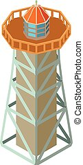 灯台, セキュリティー, アイコン, 等大, 3d, スタイル