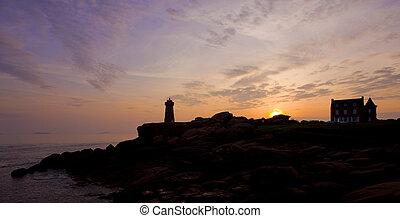 灯台, ブリタニー, フランス