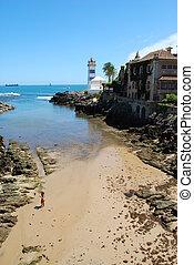 灯台, 中に, cascais, ポルトガル
