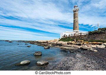 灯台, 中に, jose, ignacio, 近くに, punta del este, ウルグアイ