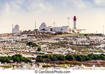 灯台, 中に, mahdia, チュニジア