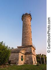 灯台, 中に, savudrija, istria, croatia