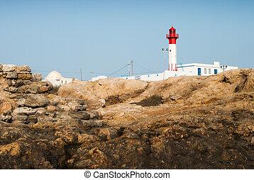 灯台, 岩の上に