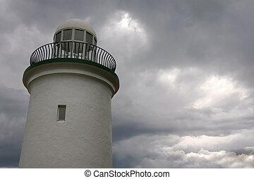 灯台, 嵐である