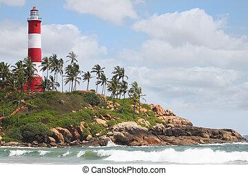 灯台, 浜