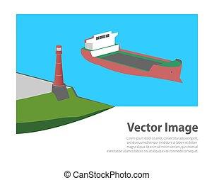 灯台, 船, 海, 産業