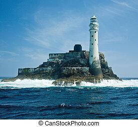灯台, fastnet, 岩