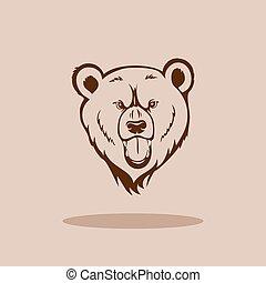 灰熊, 頭, 熊