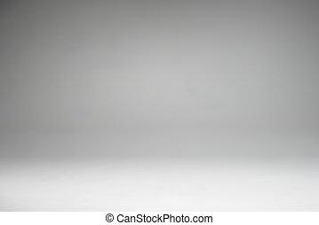 灰色, そして, 白, 勾配, 中に, スタジオ, 壁, ∥ために∥, コピースペース, 背景