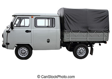 灰色, オフロード, 車。
