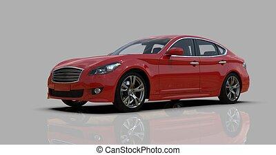 灰色, クローズアップ, 隔離された, 精選する, 深さ, フィールド, 浅い, red?car, フォーカス