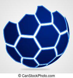 灰色, サッカーボール, 背景, ロゴ