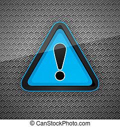 灰色, シンボル, 注意, 金属, 危険, 暗い, 警告, 表面