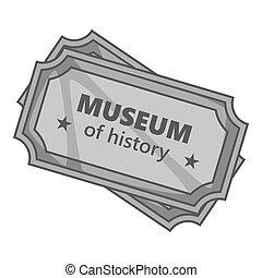 灰色, スタイル, 博物館, 印, アイコン, モノクローム, 歴史