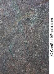 灰色, スレート, 緑の背景, 岩