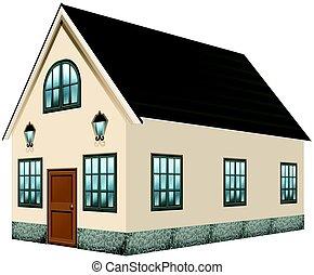 灰色, デザイン, 屋根, 家, 3d