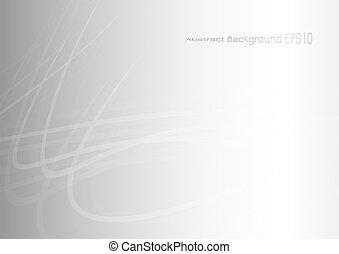 灰色, バックグラウンド。, 抽象的, カーブ, ライト, ベクトル