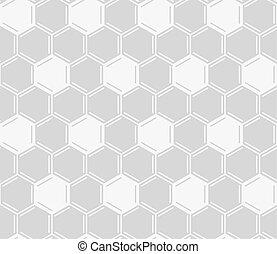灰色, パターン, seamless, バックグラウンド。, ベクトル, 白, 櫛, ハチの巣