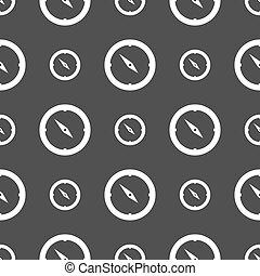 灰色, パターン, windrose, シンボル。, 印, バックグラウンド。, ベクトル, seamless, コンパス, icon., ナビゲーション