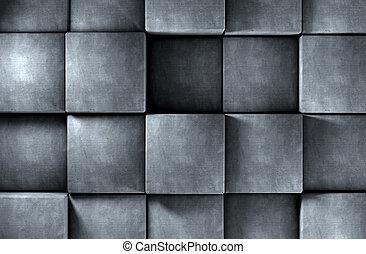灰色, ブロック, 強くされた, 抽象的, セメント, 背景