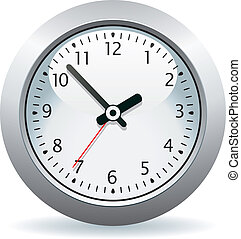 灰色, ベクトル, 時計