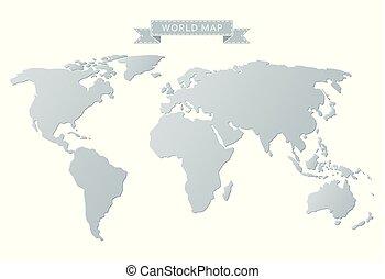 灰色, 世界地図