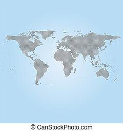 灰色, 世界地図, ベクトル