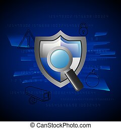 灰色, 保護, プライバシー, 保護, magnifier, セキュリティー, 技術