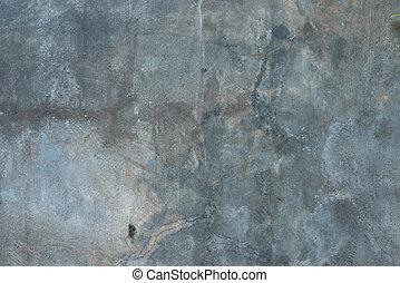 灰色, 古い, 壁, 手ざわり, コンクリート, 背景