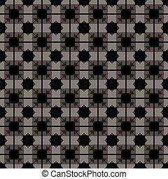 灰色, 型, pattern., seamless, rhombuses, ベクトル, 黒い背景, 寄せ木張りの床, タイル, モノクローム, 正方形