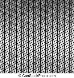 灰色, 抽象的, ベクトル, 背景, tiles., モザイク