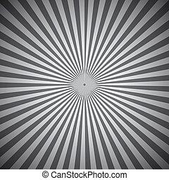 灰色, 抽象的, 光線, 背景, 放射状