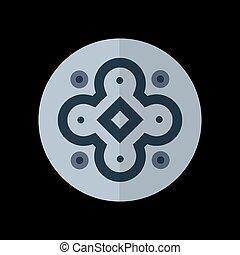 灰色, 抽象的, 背景, 対称, ロゴ