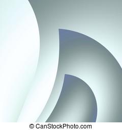 灰色, 曲がる, 抽象的
