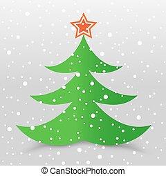 灰色, 木, 雪, 背景, クリスマス