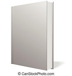 灰色, 本, 地位, ベクトル, 白