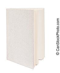 灰色, 本, 隔離された, 白, 背景
