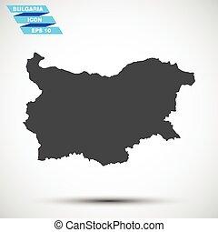 灰色, 矢量, 保加利亞, 圖象