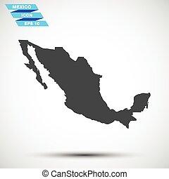 灰色, 矢量, 墨西哥, 圖象
