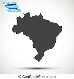 灰色, 矢量, 巴西, 圖象
