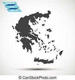 灰色, 矢量, 希臘, 圖象