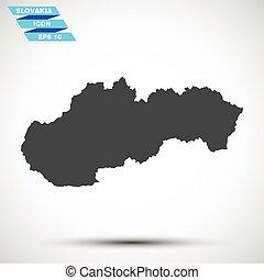 灰色, 矢量, 斯洛伐克, 圖象