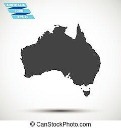 灰色, 矢量, 澳大利亞, 圖象