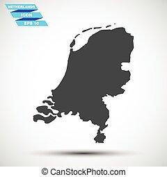灰色, 矢量, 荷蘭, 圖象