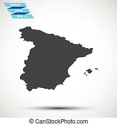 灰色, 矢量, 西班牙, 圖象