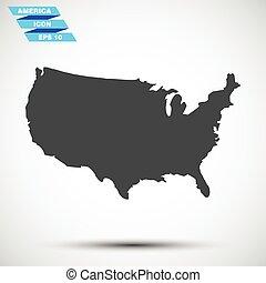 灰色, 矢量, amerika, 圖象