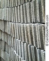 灰色, 磚, 塊, 混凝土
