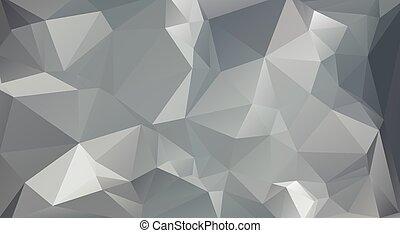 灰色, 色, polygonal, モザイク, 背景, ベクトル, イラスト, ビジネス, テンプレートを設計しなさい